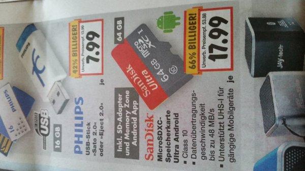 scandisk 64gb micro sd Karte für 17.99€ im Kaufland