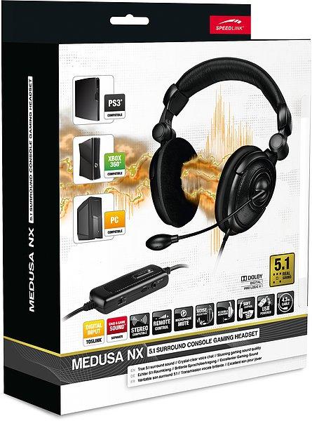 Speedlink MEDUSA NX 5.1 Surround - Sound für PS3®, Xbox 360® und PC /      8 integrierte Lautsprecher / @Hitmeister