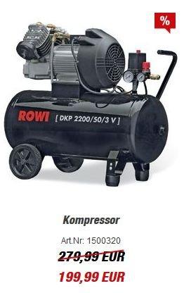 [Toom Baumarkt] Rowi Doppelzylinder Kompresser (DKP 2200/50/3 V)