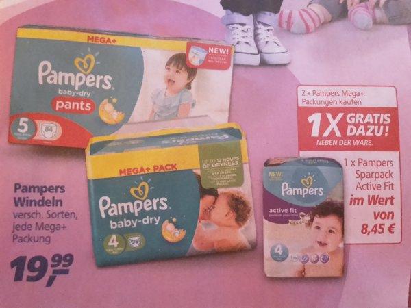 @real Markt// Pampers 2 Megapacks kaufen, 1 Folienpack gratis !