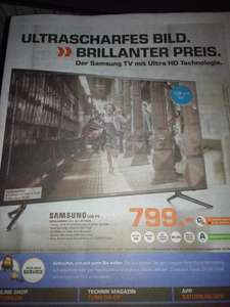 [Lokal - Saturn Göttingen] Samsung UE55JU6050 UHD TV - Idealo: 1.464,69 €
