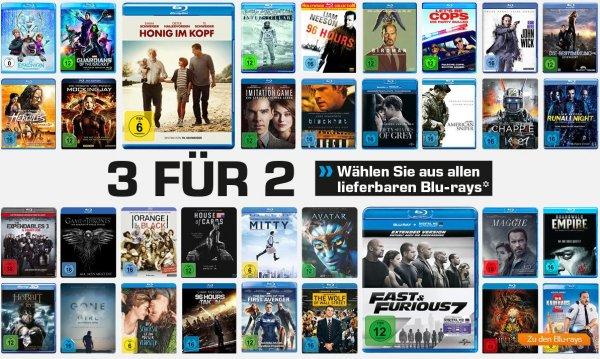 [Saturn bundesweit] 3 für 2 auf alle Blu-rays (30.08. – 06.09.15) - Aktionsseite online