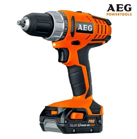 [Toom Baumarkt] AEG Akku-Bohrschrauber BS 14 G2 + 2 Li-Ion-Akkus + Koffer für 99,99 € – vom 31.8. bis 5.9.2015