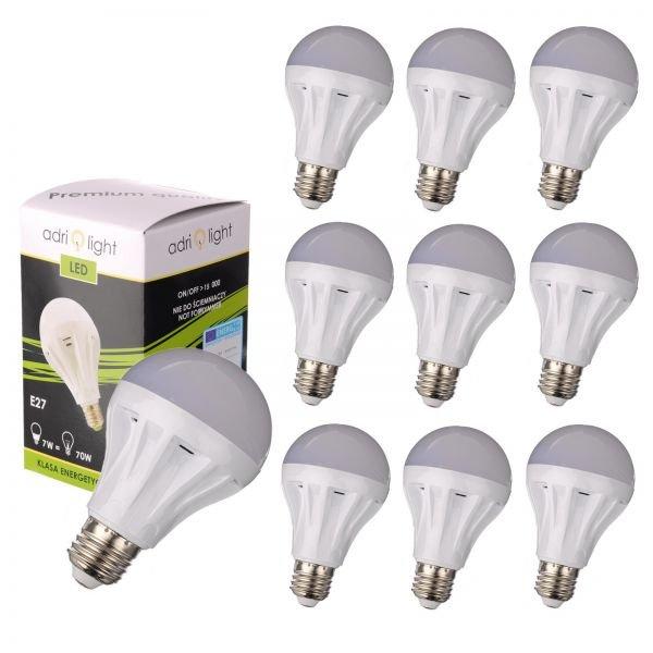[Getgoods] 10x LED E27 (7W, 630lm, warmweiß / 2700 kelvin, EEK A, 180°) für 23,99€
