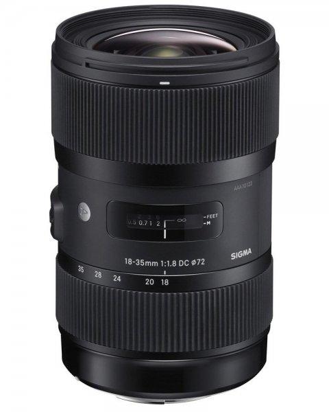 Sigma Objektiv Art 18-35 mm f1,8 DC HSM (Canon) für 596,14 € @Amazon.fr