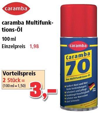 Caramba Multifunktionsöl 2x 100ml für 3€  [Offline, Thomas Philipps]