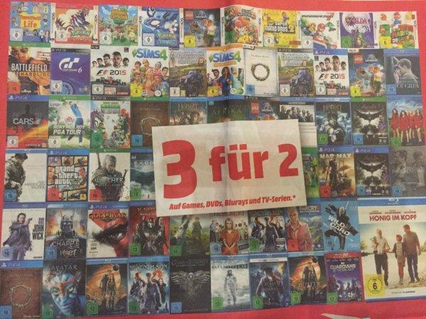 [lokal Kreis Aachen + Niederlande] Media Markt 3 für 2 Aktion - Games, DVDs, Blurays und TV-Serien