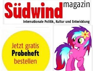 """1x kostenlose Ausgabe des """"Südwind"""" Magazins (unverbindliche Print-Variante)"""