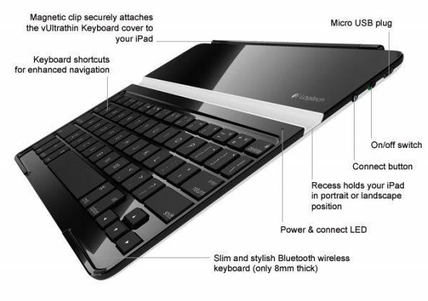 (ABGELAUFEN JETZT 35€)notebooksbilliger Logitech Ultrathin Keyboard Cover, Schwarz B-Ware (ist aber neu)