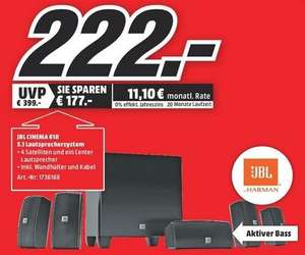 [MM Krefeld] JBL Cinema 610 5.1 Heimkino Surroundsound Lautsprechersystem