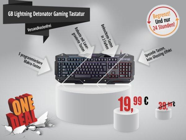 [ONE Computer Shop] GB Lightning Detonator Gaming Tastatur (beleuchtet) für 19,99€ statt 39,99€. Nur heute ! Begrenzte Anzahl!