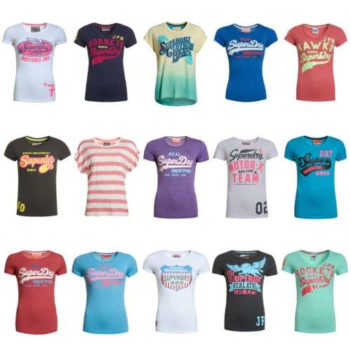 [Superdry @ ebay] Superdry Damen B-Ware / Factory Seconds T-Shirts über 80 Modelle 9,99! statt 30-35