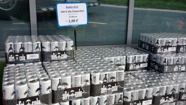 [LOKAL?][Essen] Afri Cola Zuckerfrei 24 Dosen für 1€ bei Trinkgut (MHD 05.09.2015)