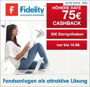 Wieder da! Depot eröffnen+Sparplan einrichten bei Fidelity - 75 € Qipu Cashback + 50 € in Anteilen
