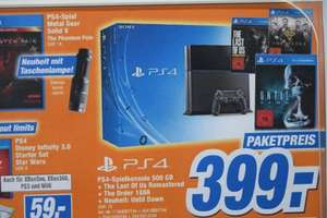 Playstation 4 - Bundle (incl. Until Dawn, Last of us & The Order) @Tevi/Expert Landshut