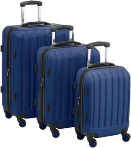 @Amazon: Packenger Business Koffer 3er-set Velvet, Dunkelblau mit TSA-Schlössern für 68,40€