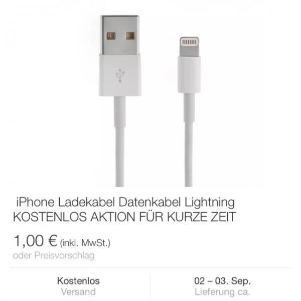 Kostenloses  Lightning Kabel für Apple - Replica - eBay