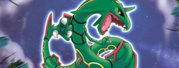 Gratis-Pokémon bei Müller: Schillerndes Rayquaza für Omega Rubin und Alpha Saphir
