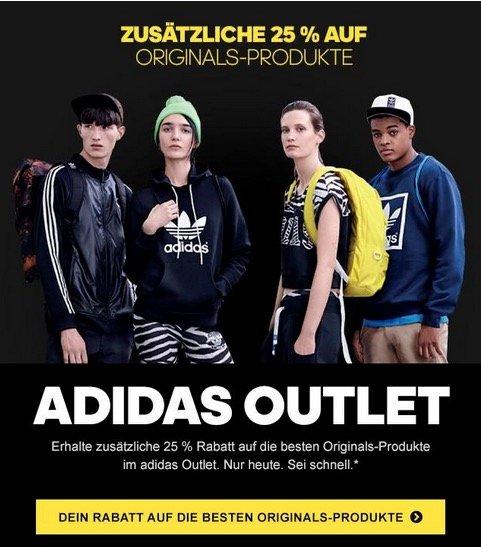 Nur heute: 25% Extra-Rabatt auf adidas Originals im Outlet + ggf. kostenloser Versand