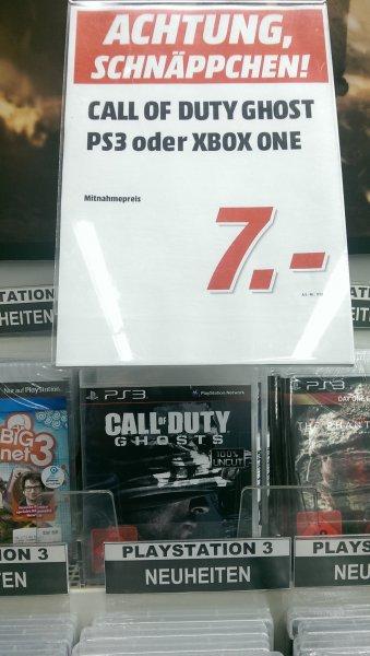 [LOKAL evtl. raum NRW] Call of Duty Ghosts (PS3 od. XBOX One) 7 Euro Media Markt Castrop-Rauxel