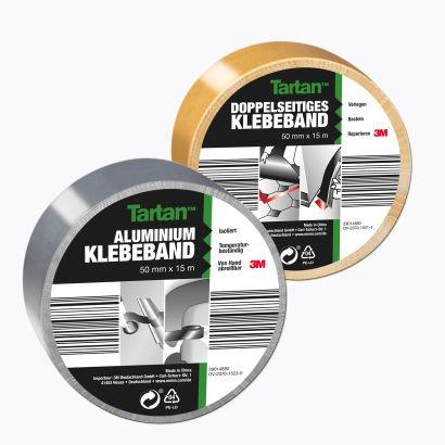 [Aldi Nord ab 07.09] Tartan™ (3M) Doppelseitiges Klebeband und Aluminium Klebeband je Rolle (50 mm × 15 m) für 1,49€