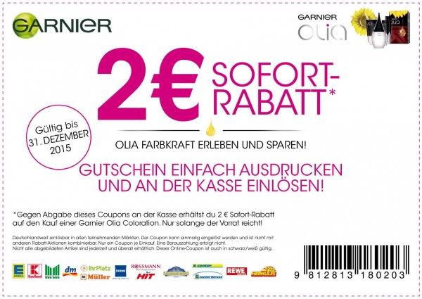 Garnier Olia Coloration für effektiv 0,99 Euro/ 0,89 Euro