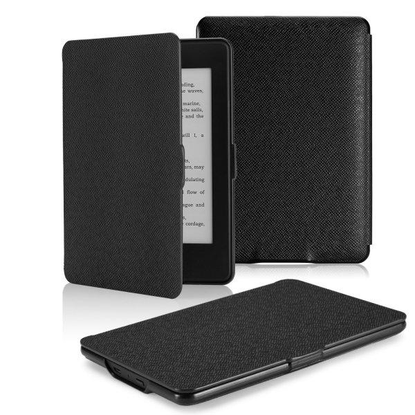 [Amazon-Prime] Amazon Kindle Paperwhite Hülle - MoKo Ultra leichtgewichtig Schutzhülle Tasche Etui Smart Case Cover für All-New Kindle Paperwhite (Versionen 2012/2013 mit 6.0 Zoll Display und Einbauleuchte),SCHWARZ