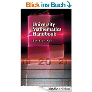 [kindle] University Mathematics Handbook @amazon.de