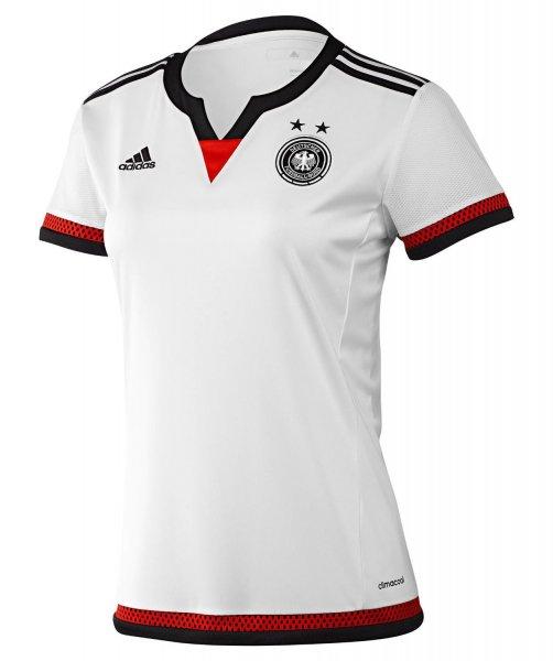 [11teamsports.de] adidas DFB Deutschland Trikot Home oder Away Damen WM 2015 für 31,12 € -50 % auf die UVP plus -11% mit Gutscheincode versandkostenfrei