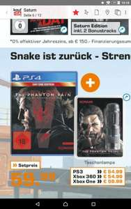 Metal gear solid 5 Phantom Pain plus Taschenlampe ab 54,99 ps4 ps4 xbox one xbox 360