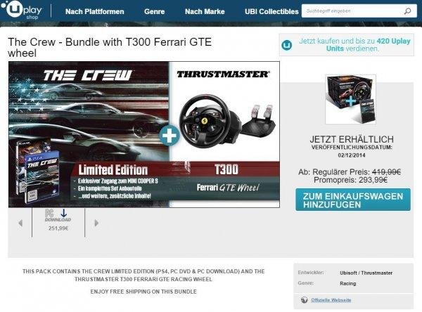 Thrustmaster T300 Ferrari GTE + The Crew LIMITED EDITION 251,99€ ( 99€ ERSPARNIS )