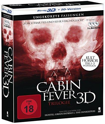 Cabin Fever 1-3 Komplettbox [3D Blu-ray + 2D Version] für 11,99€ @Media Markt