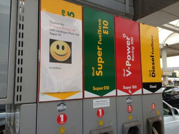 V power für Normalbenzinpreis tanken Lokal Bremen