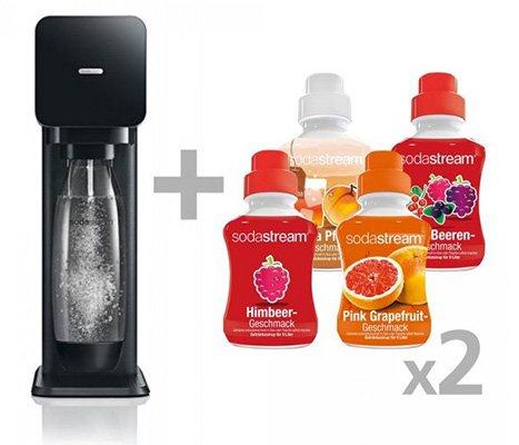 SodaStream Play Wassersprudler schwarz inkl. 8x 500ml Sirup 49,00€ Versandkostenfrei @Comtech