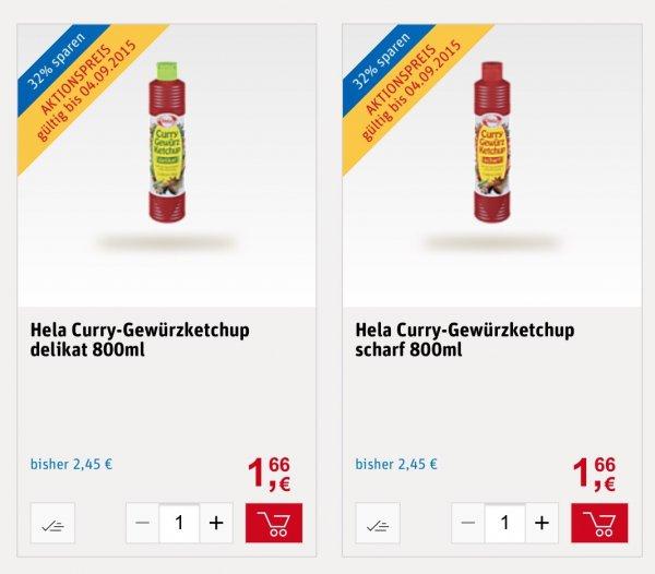 [REWE KW36] evtl Bundesweit Hela Ketchup 2 Flaschen a 800ml für 1.66€ mit Coupon