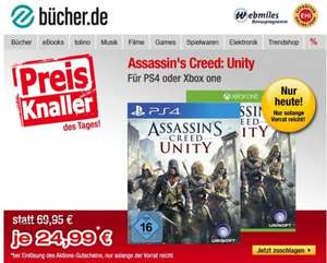 Xbox One/Sony PS4 - Assassin's Creed Unity ab €23,73 [@Buecher.de]