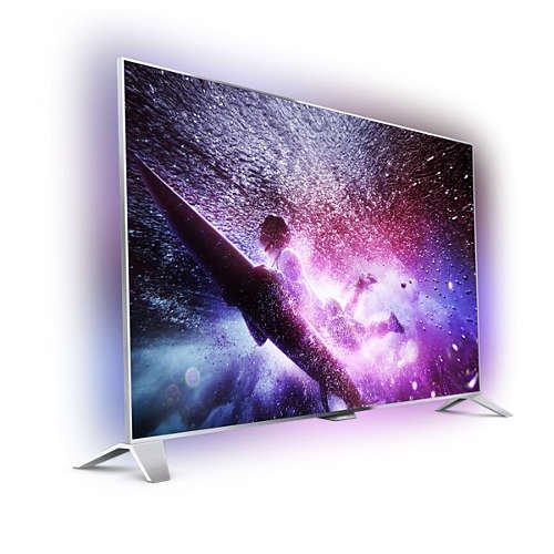 Philips 48PFS8109 Ambilight 3D Smart TV LED Fernseher silber EEK: A+