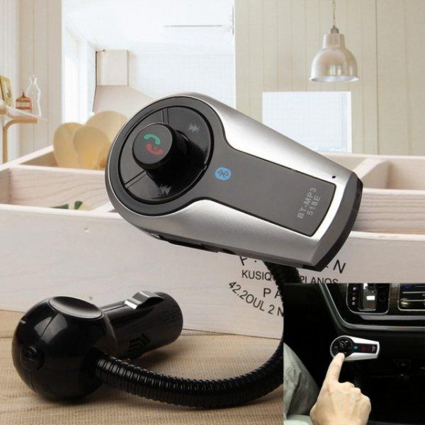 Universal Bluetooth KFZ Freisprecheinrichtung mit USB Port + Fernbedienung und MP3 Player Funktion @allbuy