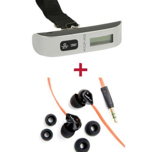 Paket: Veho Z-1 Earbuds Kopfhörer + KÖNIG digitale Gepäckwaage 25% unter Vergleichspreis