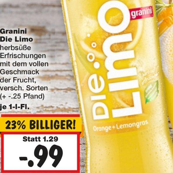 Die Limo von Granini gibt es für 0,99€ minus 0,40€ Scondoo bei [Kaufland]