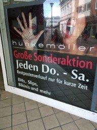 [lokal Outlet Gelsenkirchen] Hunkemöller Slips 2,5€/ BHs 6€ und weiteres