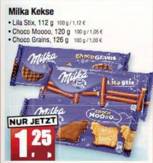 [MÄC GEIZ] KW37: Milka Moooo/Grains/Lila Stix 112-126g für 1,25€