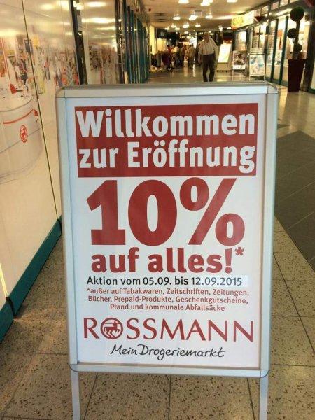 [Lokal] 10% Eröffnungsrabatt bei Rosmann in Schwarzenberg