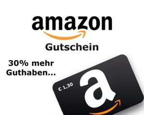 [eBay] 1,30€ Amazon Gutschein für nur 1€ mehr als 1 machbar!