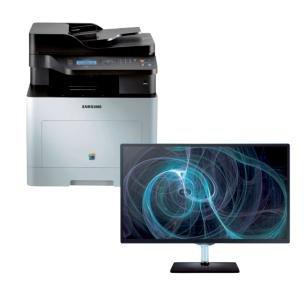 "Samsung CLX-6260ND 3-in-1 Farblaser-Multifunktionsgerät + Samsung T22D390EW 22"" Full HD Monitor mit TV Tuner für 358,13€ @Viking"