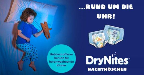 DryNites® - Hilfe und Rat für Bettnässer von Huggies Gratis Muster