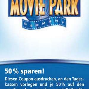 Tageskarte Movie Park im September