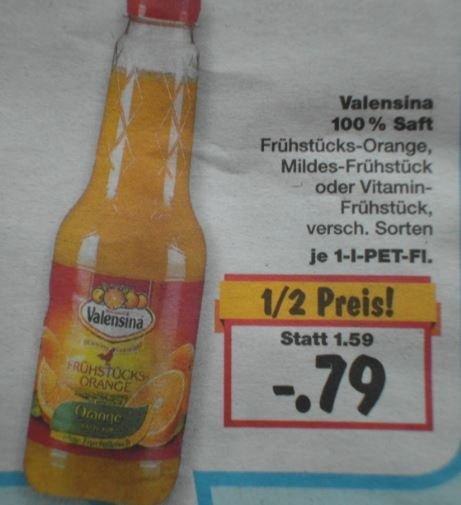 [Kaufland) Valensina Saft 100% 1 Liter für 0,79 Euro