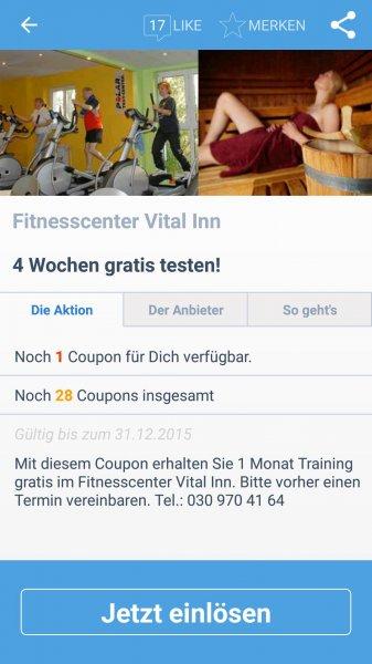 (Vital Inn Berlin) 4 Wochen Fitness gratis
