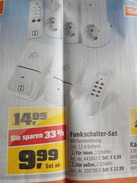 ( Obi ) Funkschalter- Set 4 teilig für innen 9.99€  aussen 12,99€
